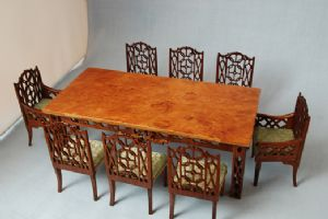 193. Chinese Chippendale Dining Set